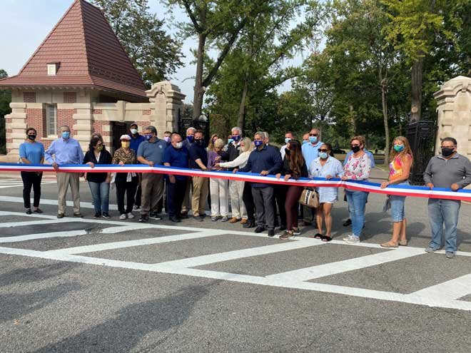 Historic Ballantine Gates at Branch Brook Park are restored
