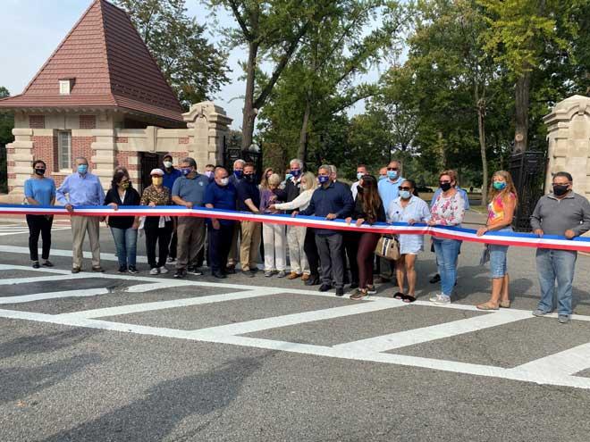 Historic Ballantine Gates at Branch Brook Park are restored