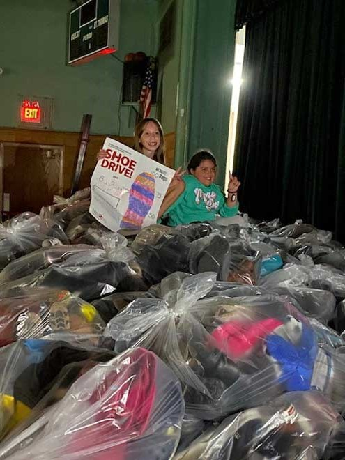 School hosts successful shoe drive fundraiser