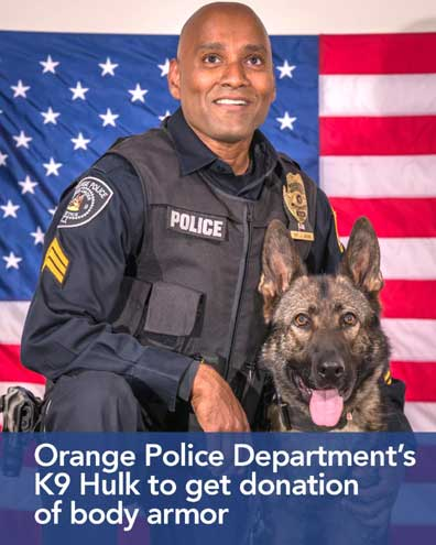 Orange Police Department K-9 to get donation of body armor