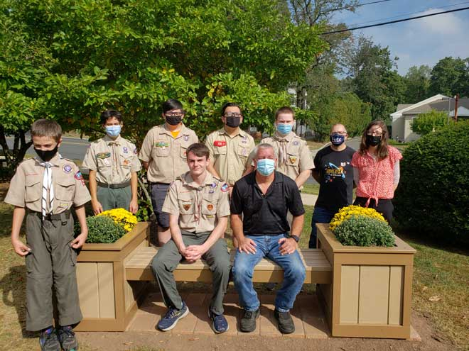 Eagle Scout project beautifies grounds at West Orange Public Library
