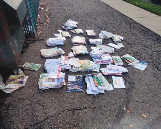 Nearly 2K pieces of WO mail found behind dumpster