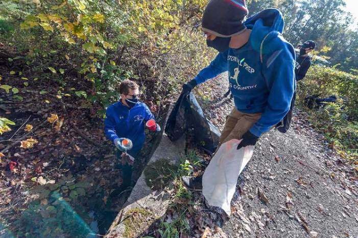 SHP Environmental Club is on the job in town