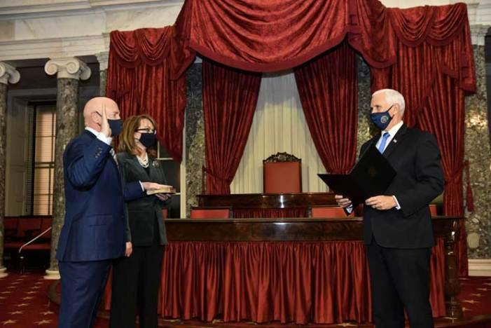 Hometown hero Mark Kelly sworn in as Arizona senator