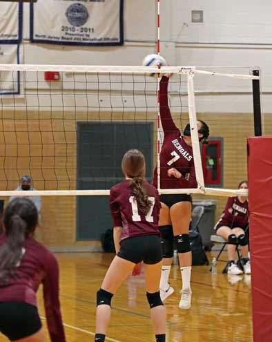 Nutley girls volleyball defeats Bloomfield High 2-0