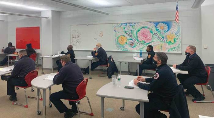Six area fire departments train members on Officer 1 course
