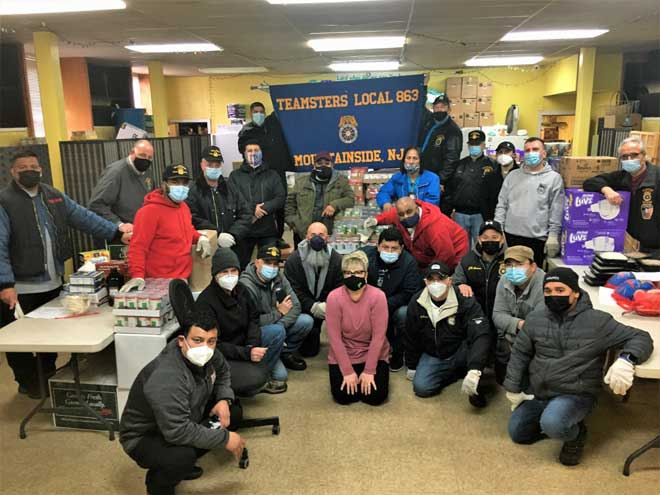 Teamsters Local 863 surprises local food pantry with huge donation