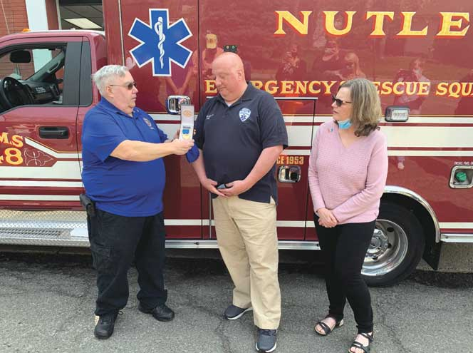 Barrett wins Nutley EMT of the Year Award after saving man from fire