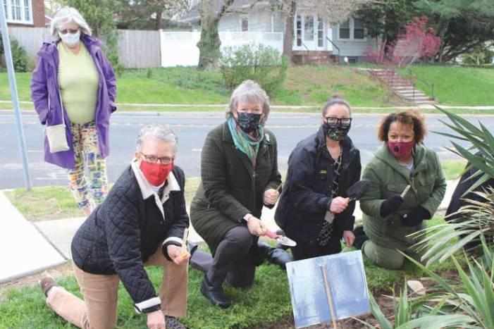 South Orange community plants Remembrance Garden at SOPL