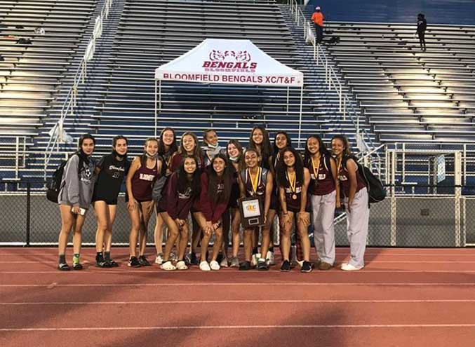 BHS girls track and field team is Liberty Division champion
