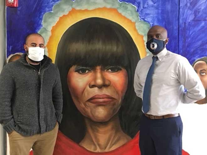 Tyson Community School memorializes its namesake with mural