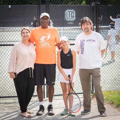 Bat mitzvah girl raises more than $32,500 for GNTE at Orange Lawn Tennis Club