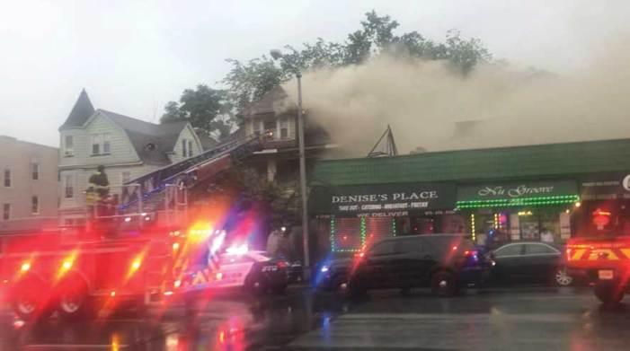 Lightning strikes Irvington house; fire leaves structure uninhabitable