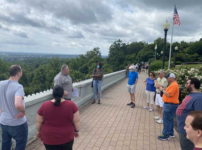 Fagan leads walking tour at the Eagle Rock Reservation