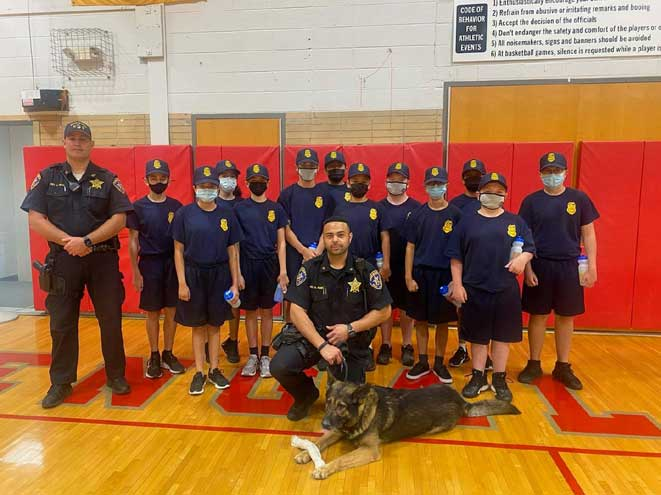 Sheriff's Office's K-9 Unit visits Bloomfield Jr. Police Academy