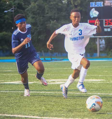 Irvington HS boys soccer team notches first win of season