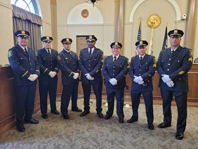 Seven Bloomfield police officers receive promotions