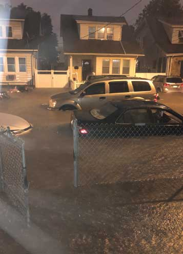 Local man becomes stranded at Irvington border during storm