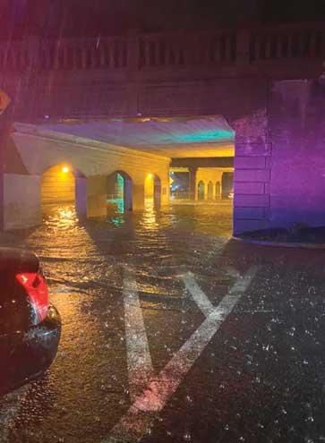 Hurricane Ida fills SOMA streets with water, kills man in Maplewood