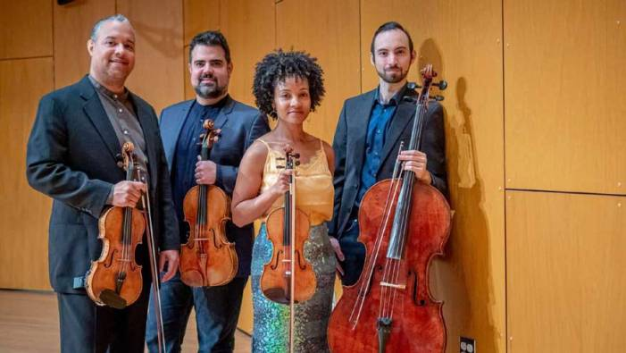 Harlem String Quartet visits Columbia High School