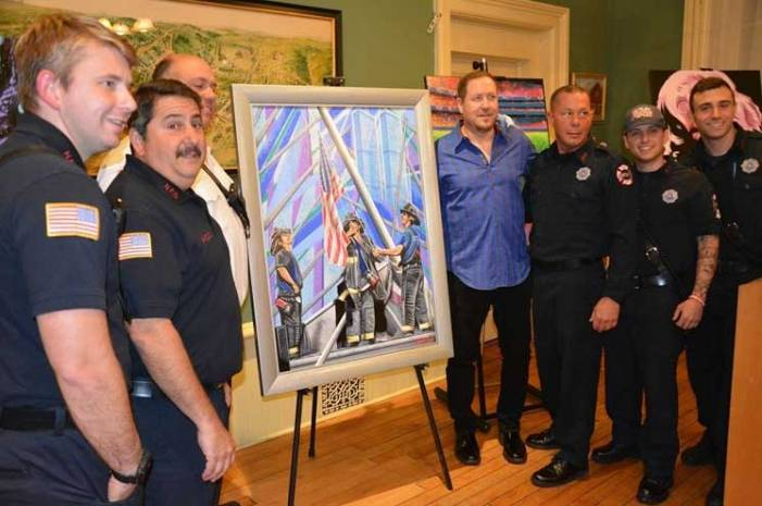Nutley artist donates memorial painting to historical society