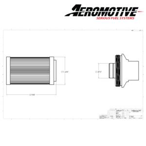 Aeromotive 10 Micron Replacement Cellulose Fabric Fuel