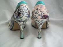 Vintage style floral art shoe back by beautiful moment
