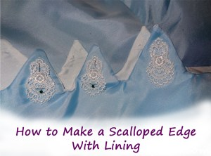 scalloped edge button