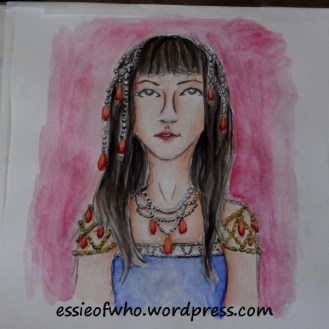 Dripping in Jewels- Original watercolor painting