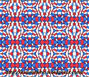 Red, White, and Blue Abstract