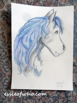 Watercolor painting of a horse