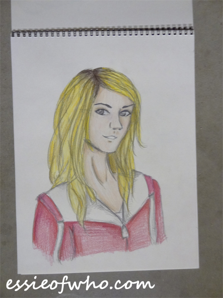 rose tyler pencil drawing