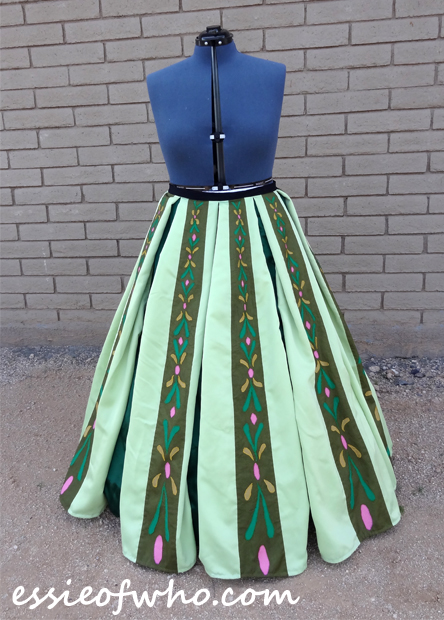 anna coronation dress skirt finished