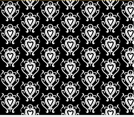 heart damask fabric design 3