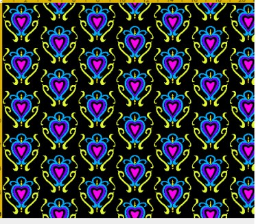 heart damask fabric design 4