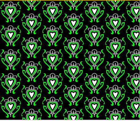 heart damask fabric design 9