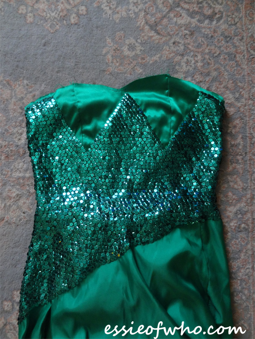 elsa frozen fever sequin sewing progress 1