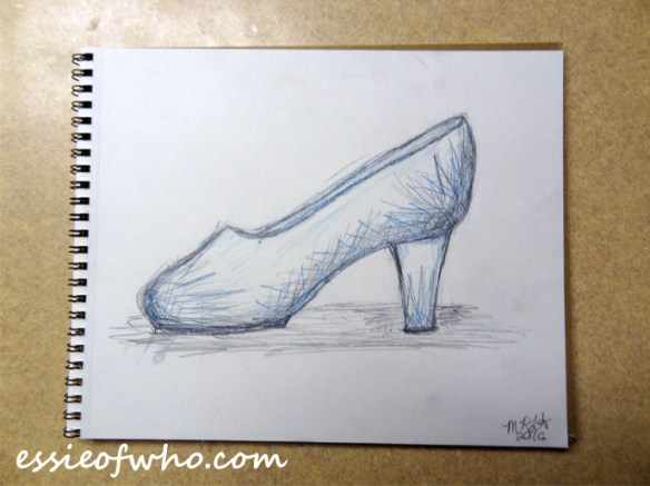 cinderella-shoe-fabric-design-drawing-paper