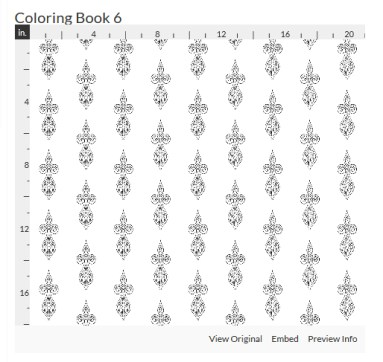 coloring book 6 fabric design