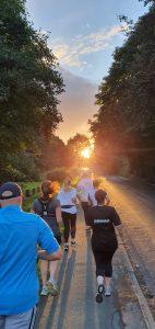 EHRC Running into the sunset