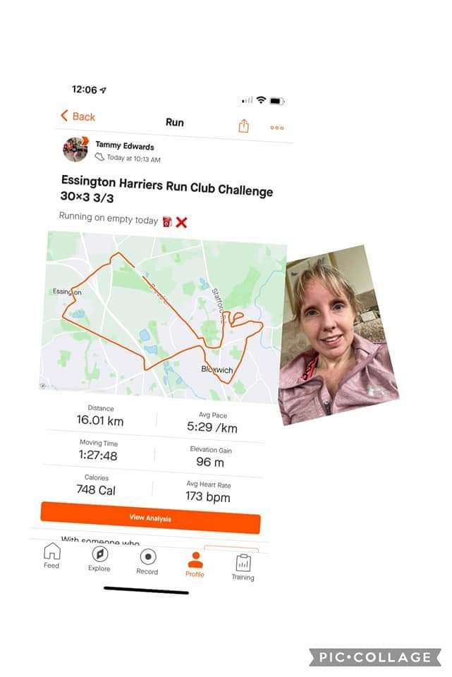 EHRC Return To Running Challenge 30x3