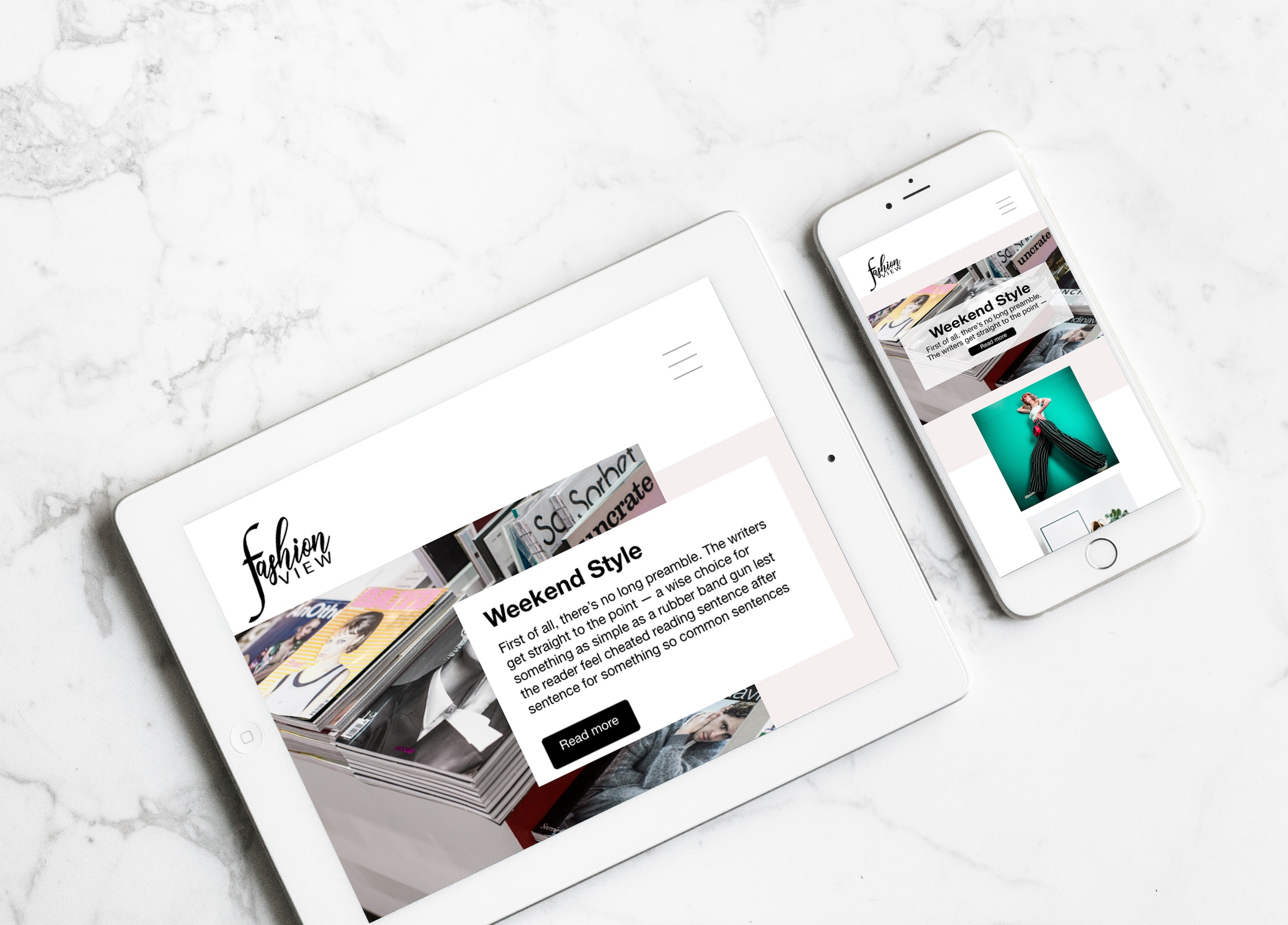 fashion blogger web design