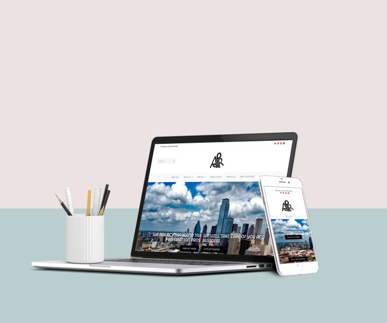 tax preparation and accounting website design