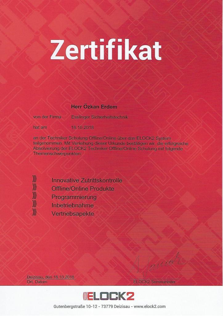 elock2 Zertifikat