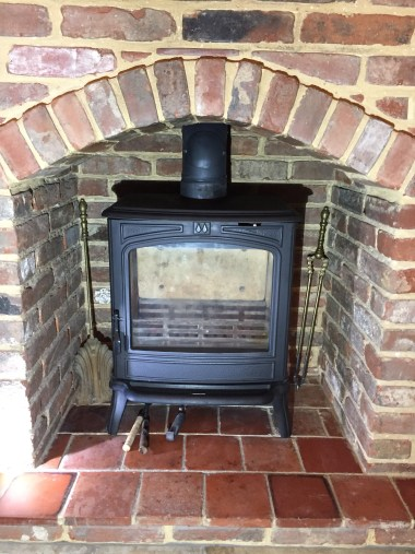 Chimney sweeping happy customer