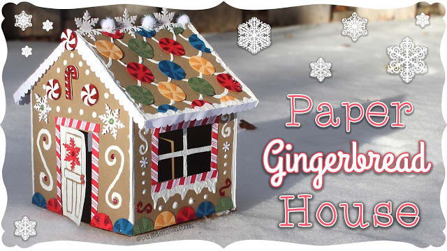 Simple Paper Gingerbread House Tutorial