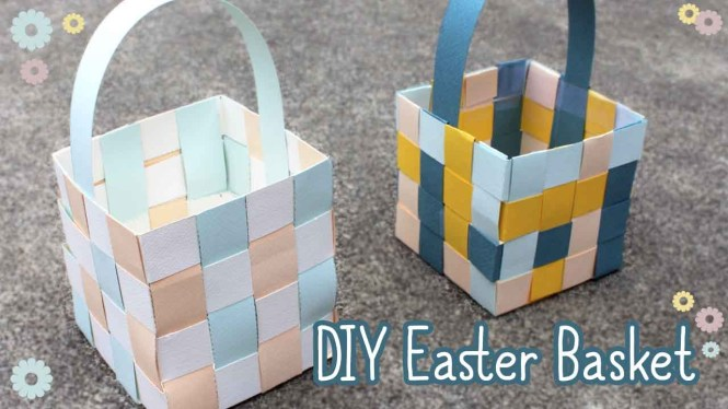 Paper Easter Basket Tutorial