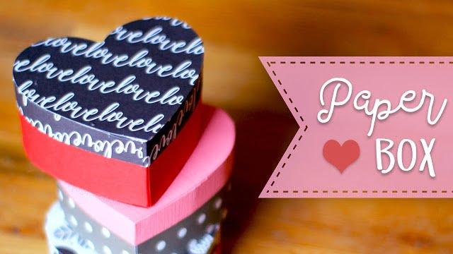 Paper Heart Gift Box Tutorial