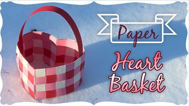 Paper Heart Basket Tutorial