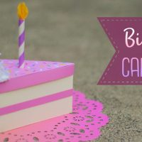 Paper Birthday Cake Slice Gift Box